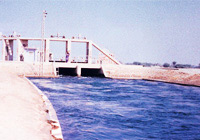 Earthwork and lining of Sadiq Feeder and Lower Sadiq branch canals, at Rahimyar Khan